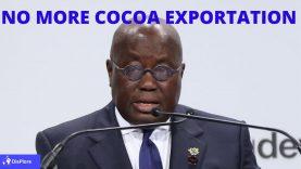 Ghana's President Nana Akufo-Addo Says Ghana will no Longer Export Cocoa to Switzerland