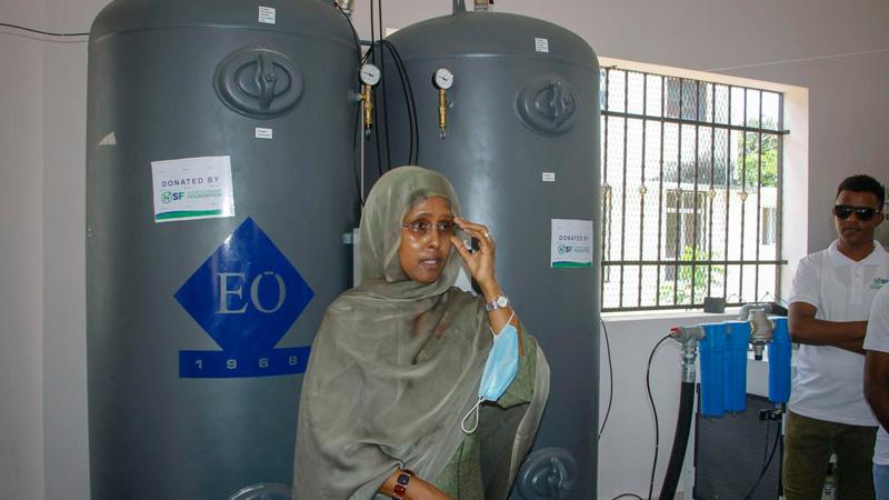 Somalia opens oxygen plant vital in Covid fight